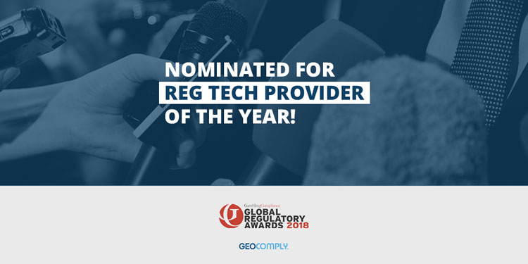 Nominated Reg Tech Provider of the year Gambling Compliance