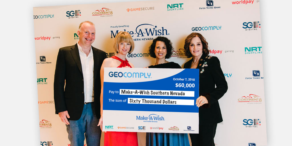 GeoComply, gaming industry partners and guests donate $60K to Make-A-Wish® Southern Nevada at G2E Fundraising Event