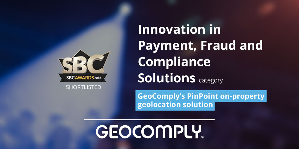 GeoComply's PinPoint On-Property Solution Shortlisted for SBC Award