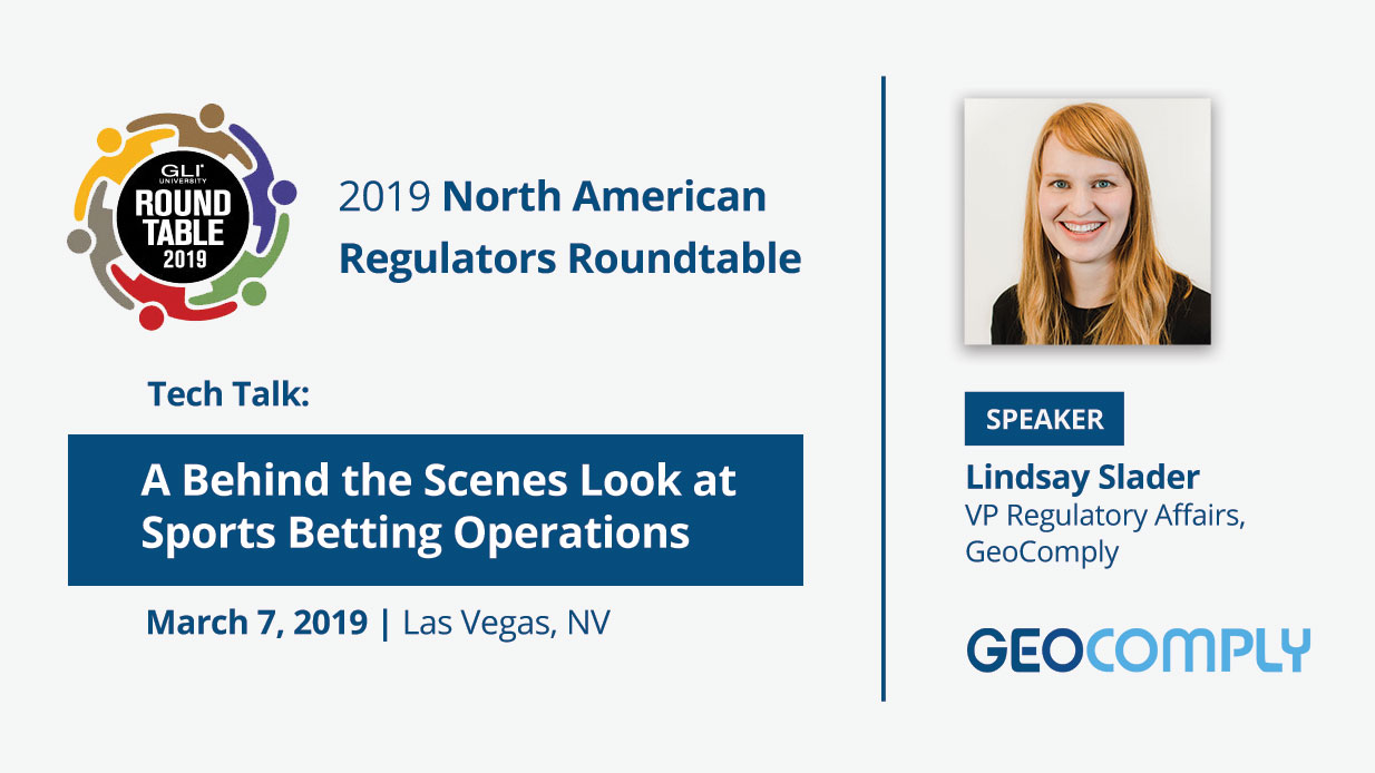Lindsay Slader at GLI North American Regulators Roundtable 2019