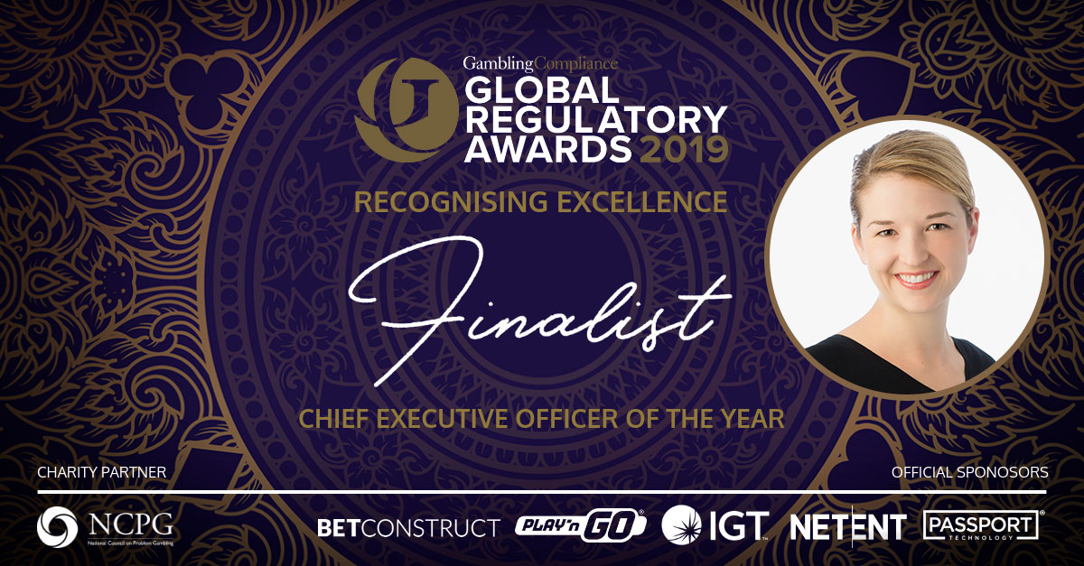 Anna Sainsbury shortlisted for Chief Executive Officer of the Year – GamblingCompliance Global Regulatory Awards 2019