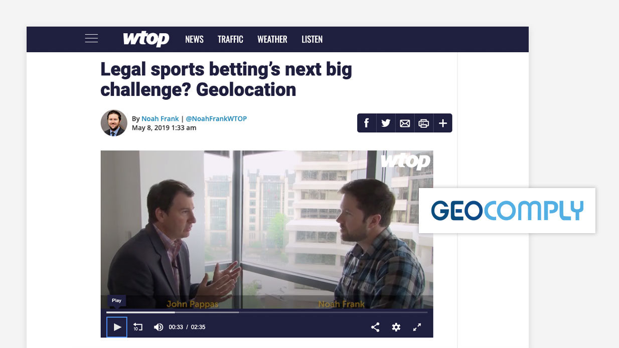 Legal sports betting's next big challenge? Geolocation – GeoComply's John Pappas on the geolocation challenges of Washington, DC