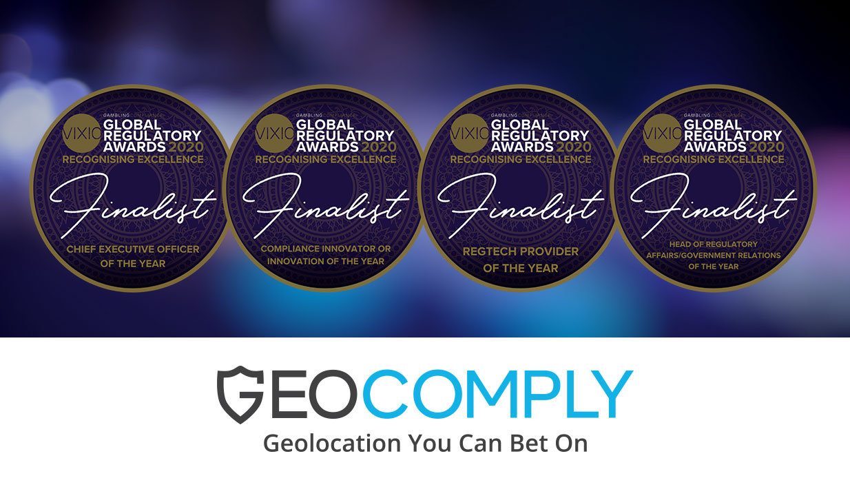 GeoComply shortlisted in four categories for this year's VIXIO Gambling Compliance Global Regulatory Awards!