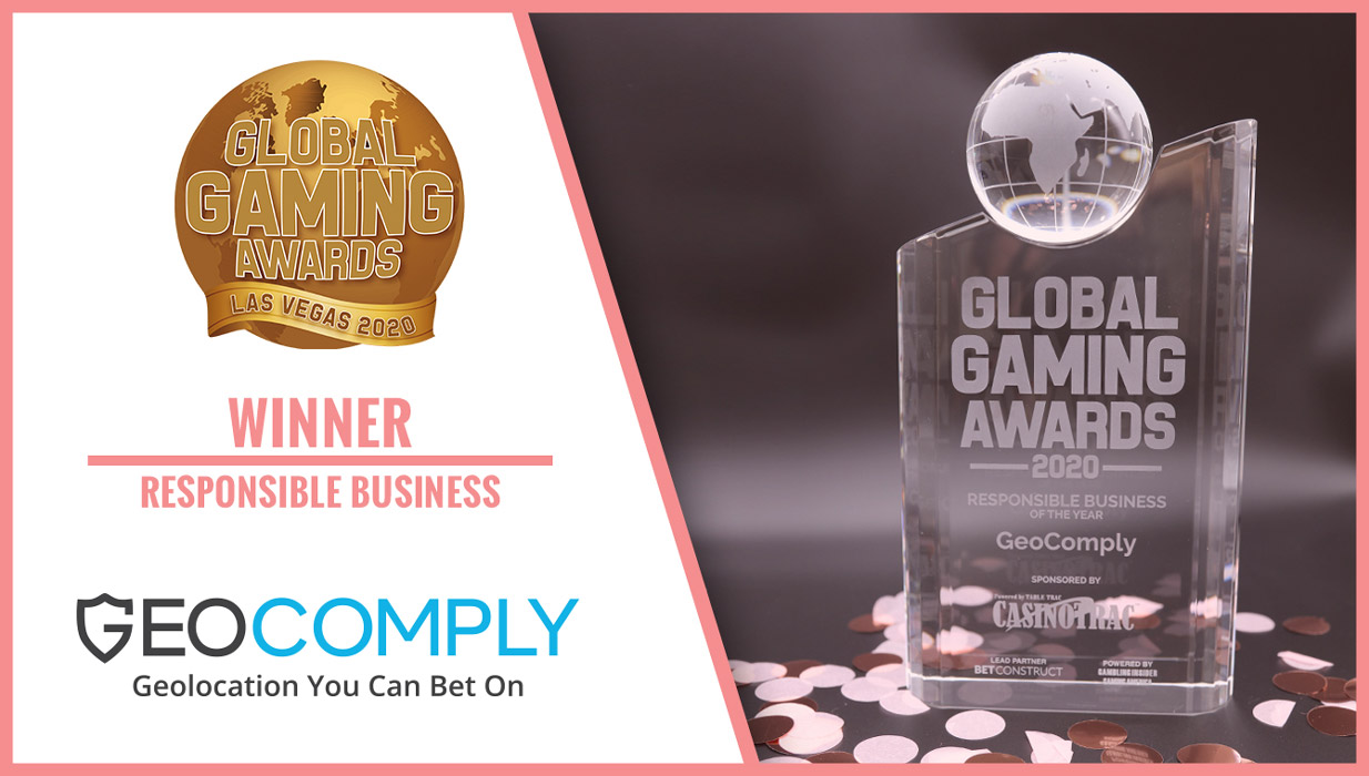 GeoComply Wins 2020 Global Gaming Award for Responsible Business of the Year