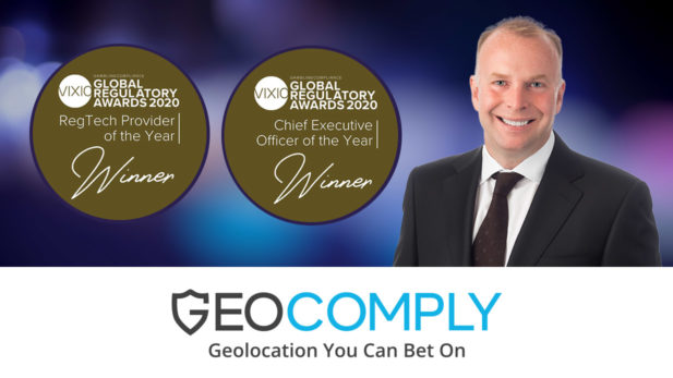 GeoComply Wins Two Global Regulatory Awards – Reg Tech Provider of the Year and CEO of the Year