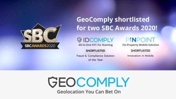 GeoComply Shortlisted SBC Awards 2020